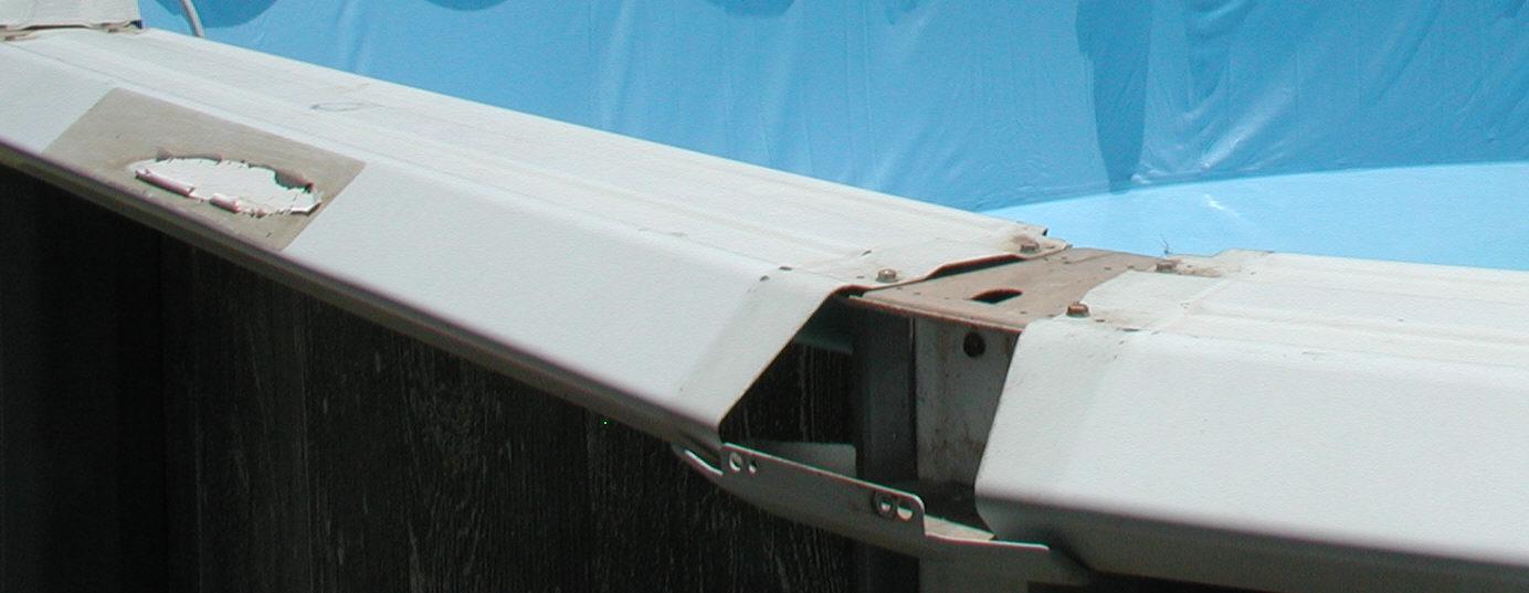 rust on pool top rail