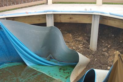 Pool Wall Collapsed