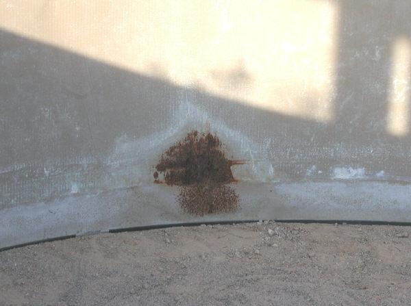 repair pool wall rust