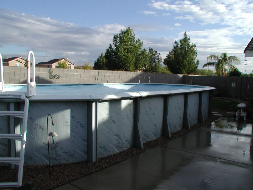 oval above ground lap pool