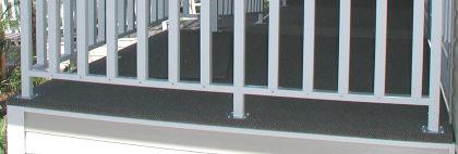 aluminum porch handrail feet