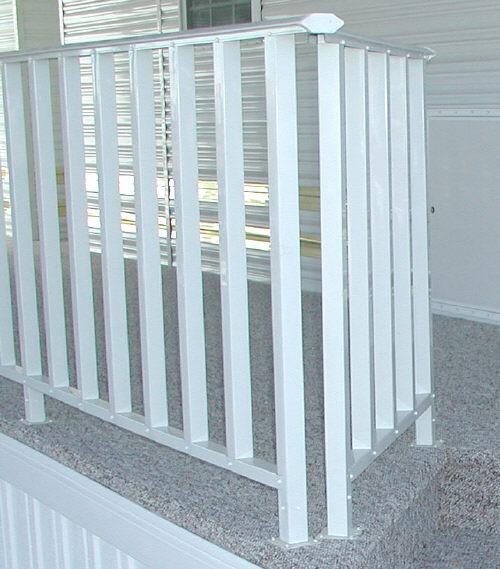 aluminum porch handrail