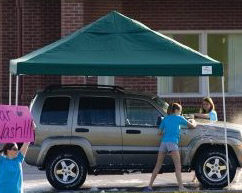 Straight Leg Pop Up Canopy with Rolling Storage Bag