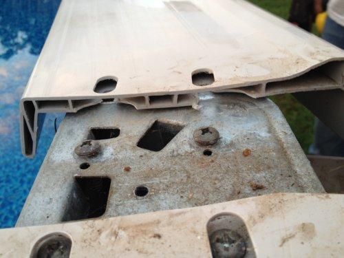resin top rail broke