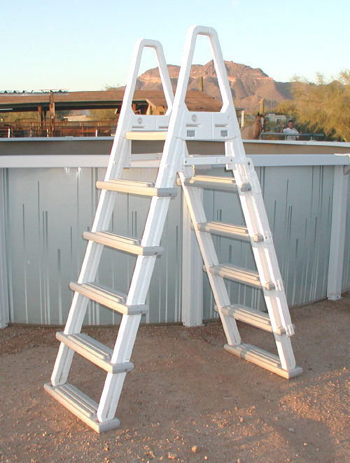 above ground pool safety ladder