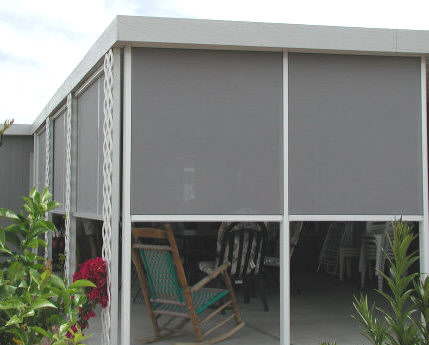 framed shade screens