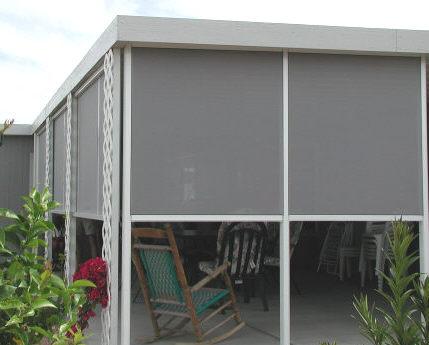 framed shade screens