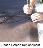 shade screen replacement