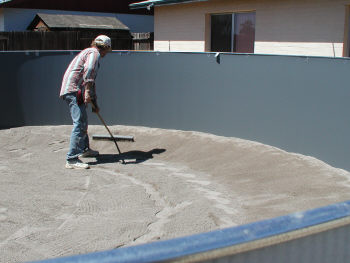 smoothing the pool base