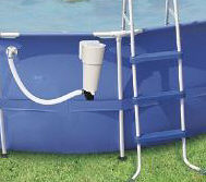 soft side pool filter and ladder