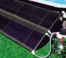 solar panels on an above ground pool