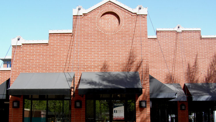 Steel Awning On Brick Wall