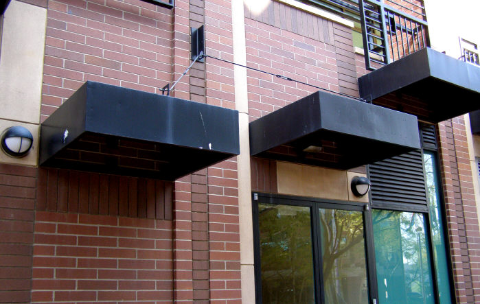 Square Steel Box Type Awnings