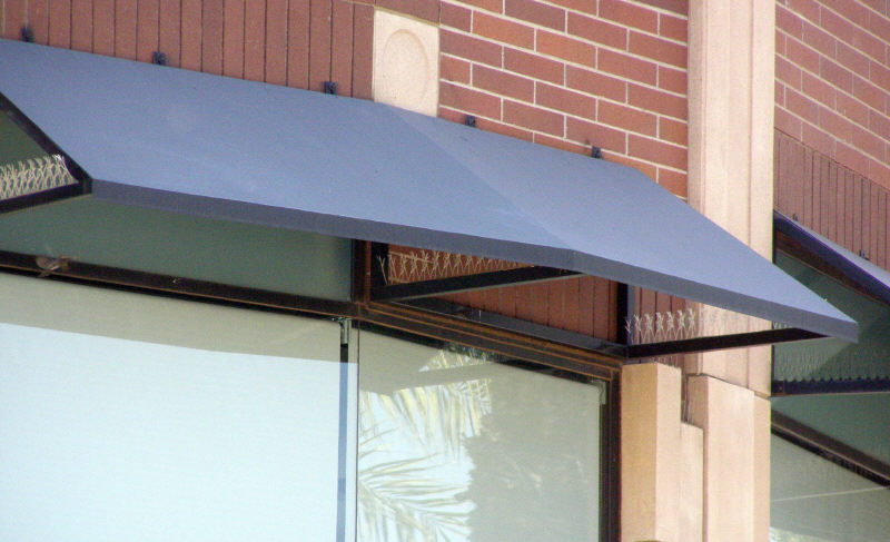 Mitered Steel Window Awning