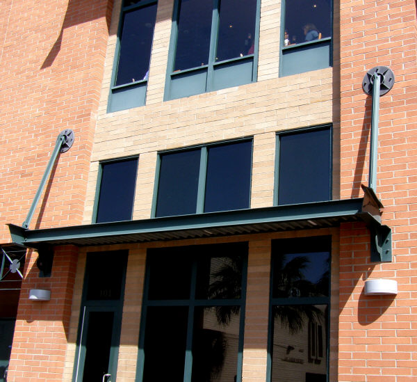 I-beam Constructed Steel Awning