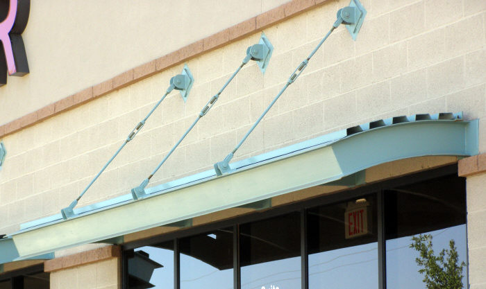 Steel Commercial Window Awning