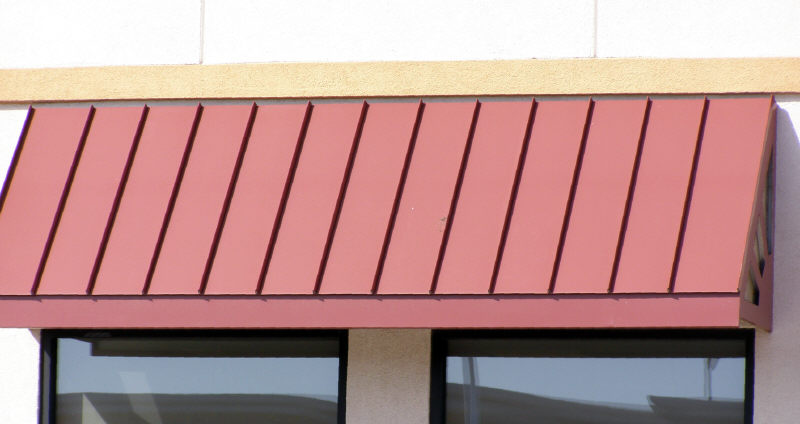 Painted Commercial Steel Window Awnings