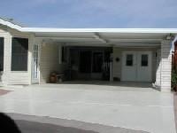 aluminum carport cover with I-beams