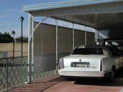 aluminum awning shade structure