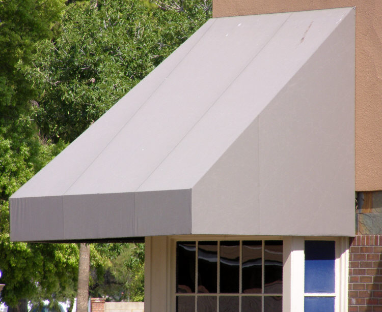 Tan Commercial Window Awning