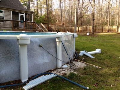 Tree Damaged Pool