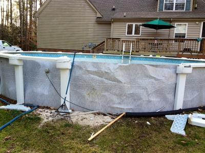 Pool Wall Damage