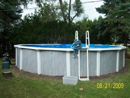 unlevel above ground pool