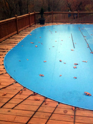 above ground pool winterized