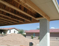 wood patio awning