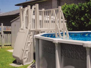 resin deck for above ground pool