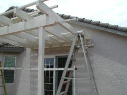 Lattice being installed