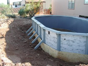 above ground pool installed inground