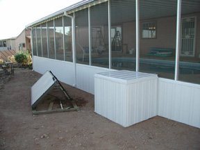 Filter Cover And Screen Room Above Ground Pool Wood Deck
