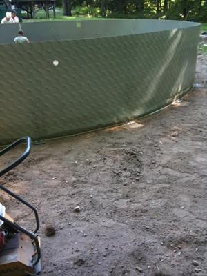 Pool Wall Showing Crease Damage