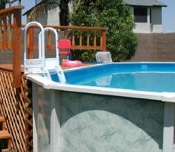 Plain Blue Liner in Above Ground Pool