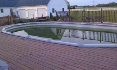 Above Ground Pool In Ground With Deck