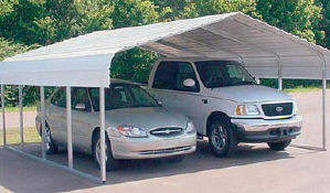 VersaTube Two Vehicle Steel Shelter