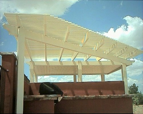 Alumawood Lattice and Solid Patio Cover