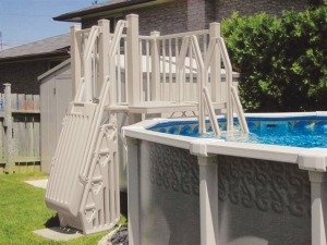 Resin Pool Deck