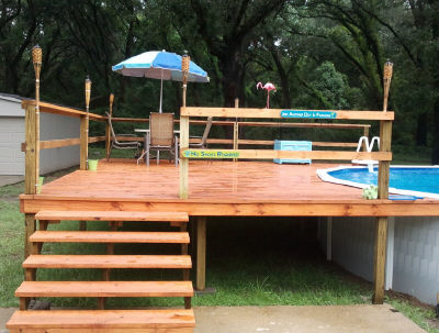 Wood Deck For An Above Ground Pool