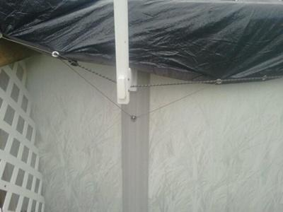Pool Cover Attached To Upright