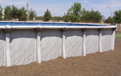 landscaping for above ground pool