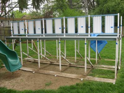 Pool side frames