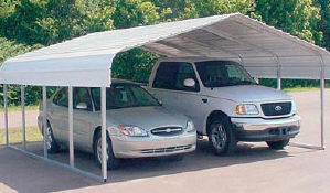 VersaTube Two Vehicle Steel Shelter