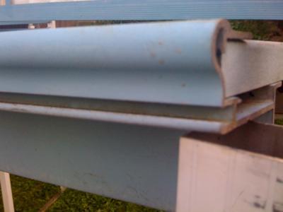 Track where liner attaches