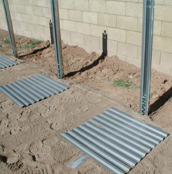 pressure plates on oval above ground pool