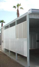 aluminum privacy panel