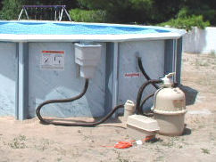 above ground pool filter hoses & Pool Filter Hook Up
