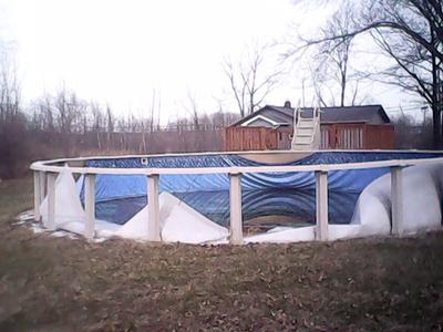 Creased Pool Wall