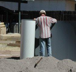 insert wall into bottom rail